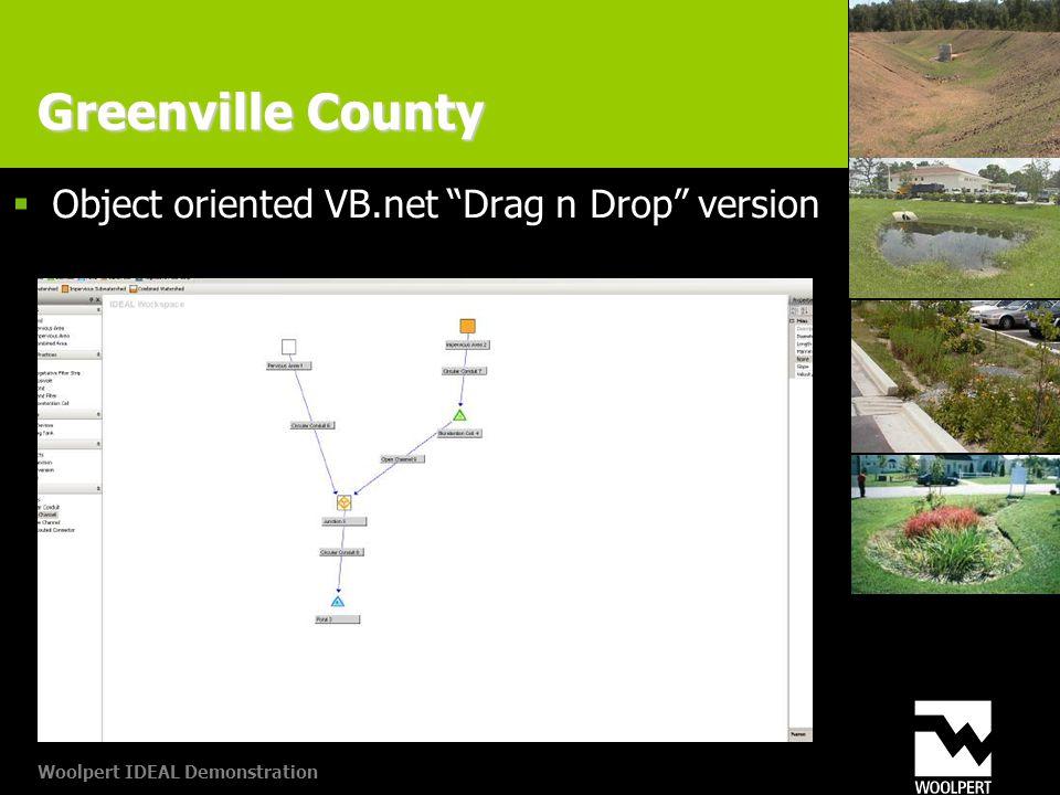 Woolpert IDEAL Demonstration Greenville County  Object oriented VB.net Drag n Drop version