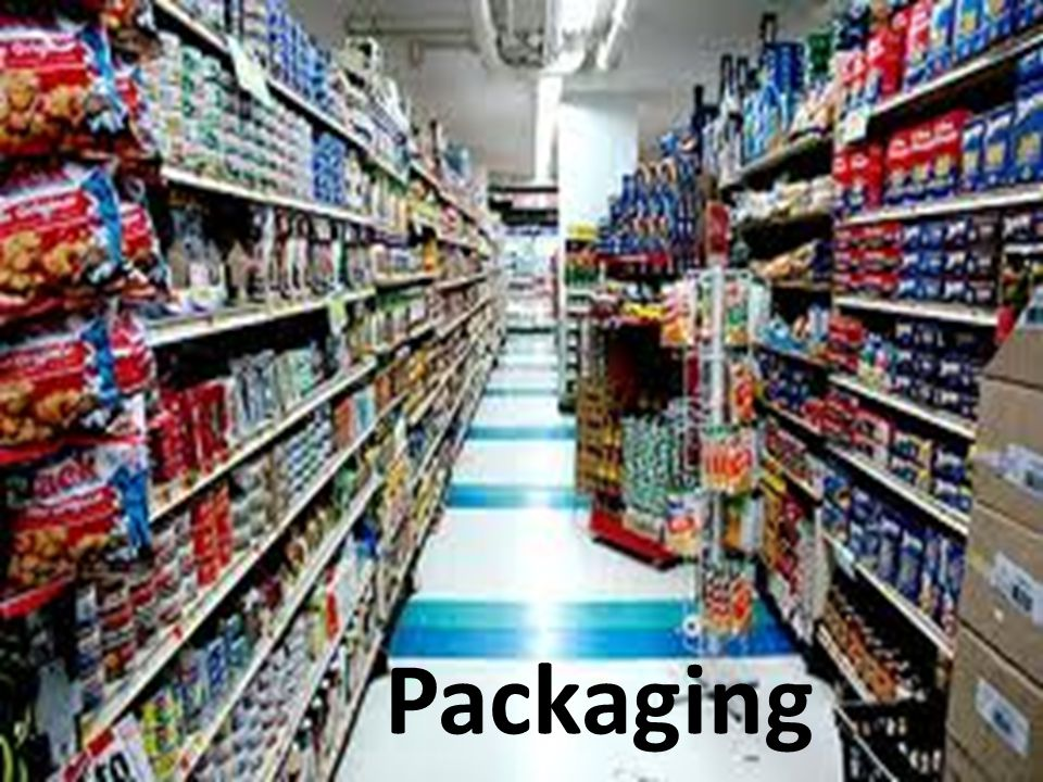 Packaging is done at every level of marketing – Raw Materials i.e.