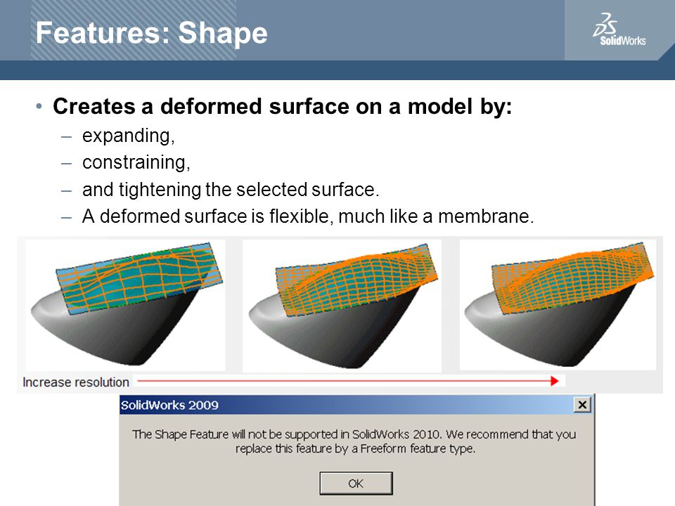 Shape Example Sketch points on faceUsing Pressure and Bend to change shape