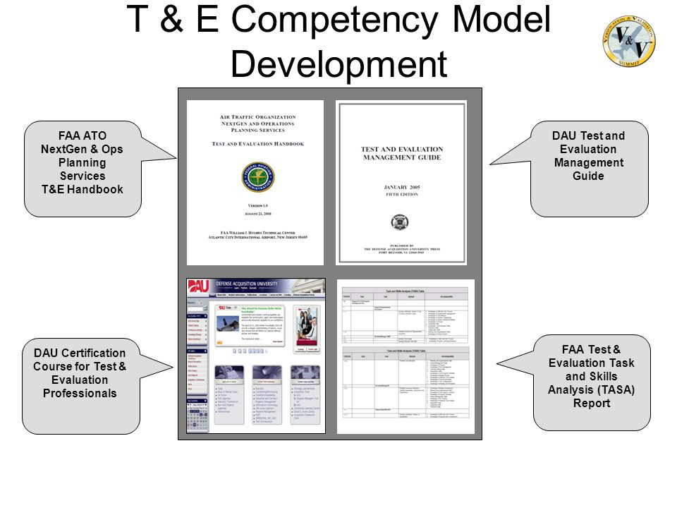 T & E Competency Model Development Step 1 FAA Test & Evaluation Task and Skills Analysis (TASA) Report DAU Certification Course for Test & Evaluation