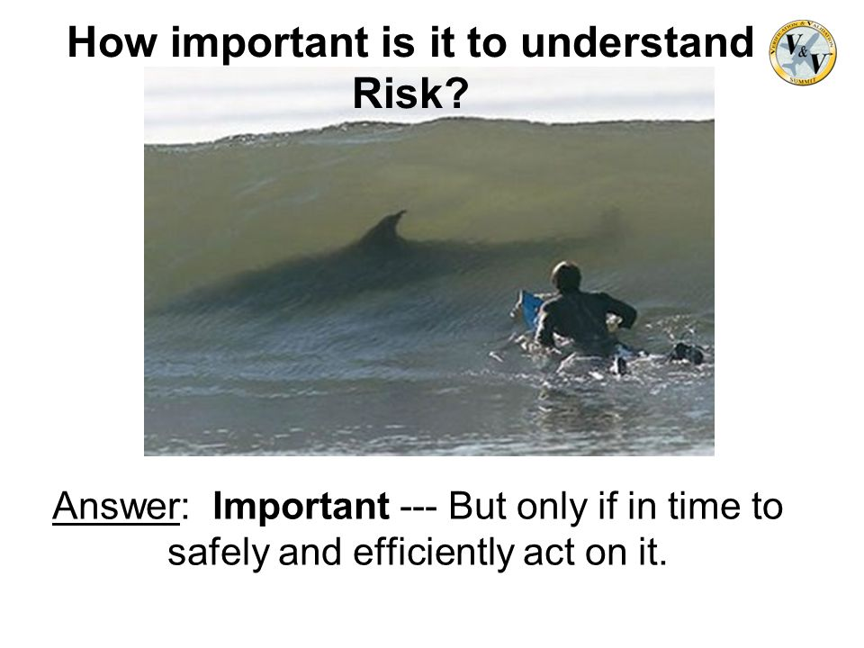 Answer: Important --- But only if in time to safely and efficiently act on it. How important is it to understand Risk?