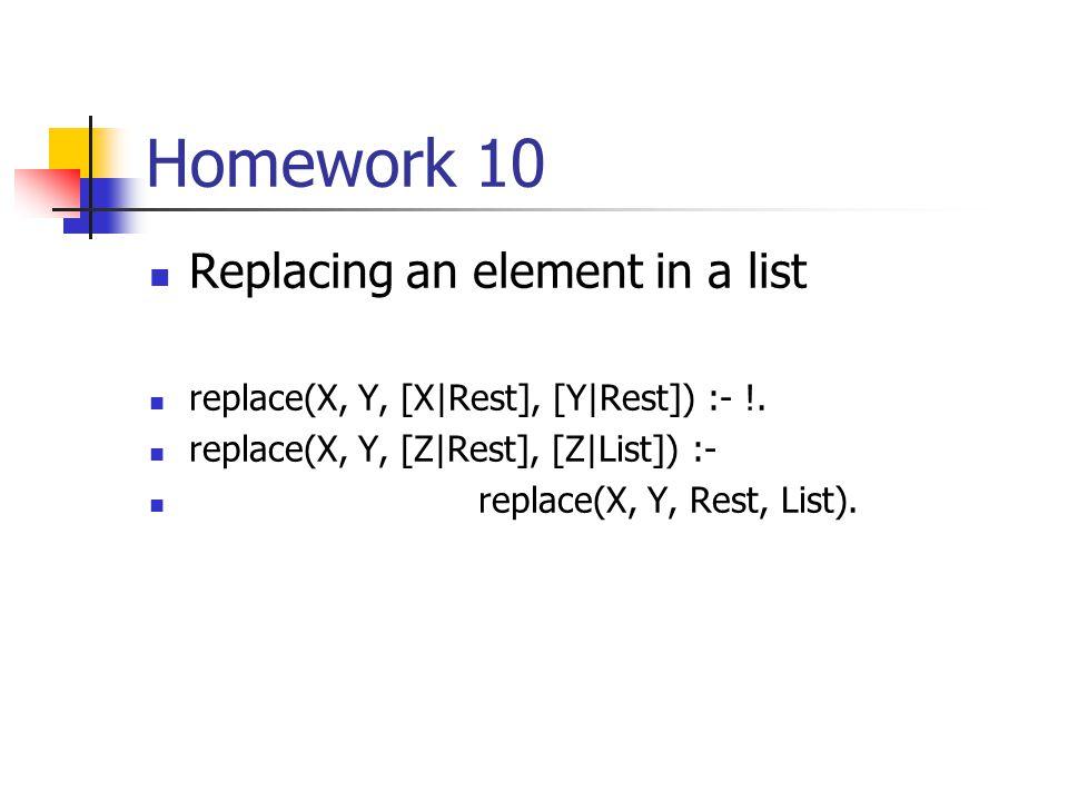 Homework 10 mergesort([], []) :- !. mergesort([A], [A]) :- !. mergesort(L, L1) :- split(L, M, N), mergesort(M, M1), mergesort(N, N1), merge(M1, N1, L1