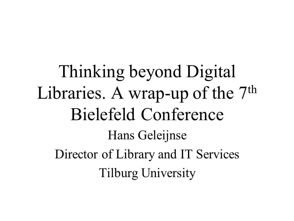Thinking beyond Digital Libraries.