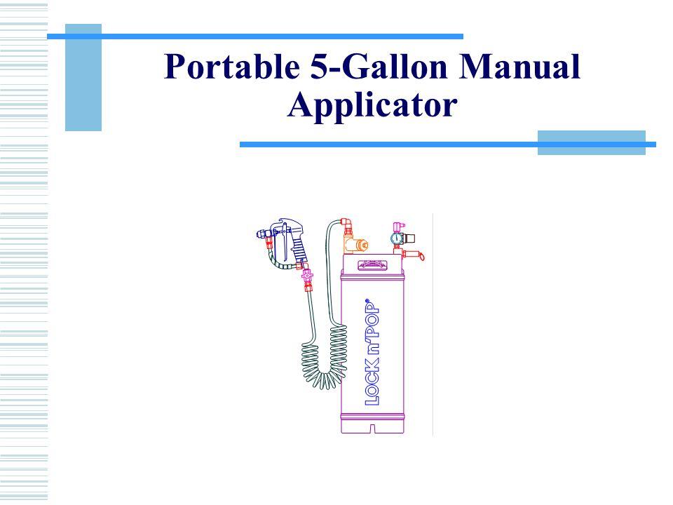 Portable 5-Gallon Manual Applicator