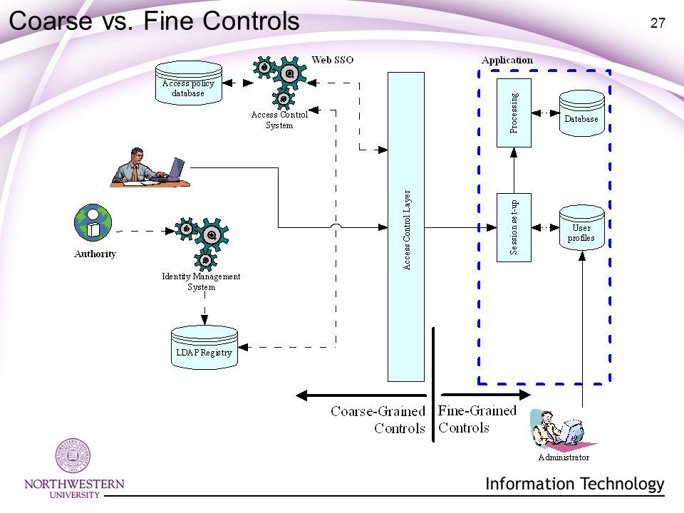 27 Coarse vs. Fine Controls