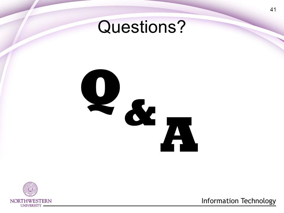 41 Questions? Q A &