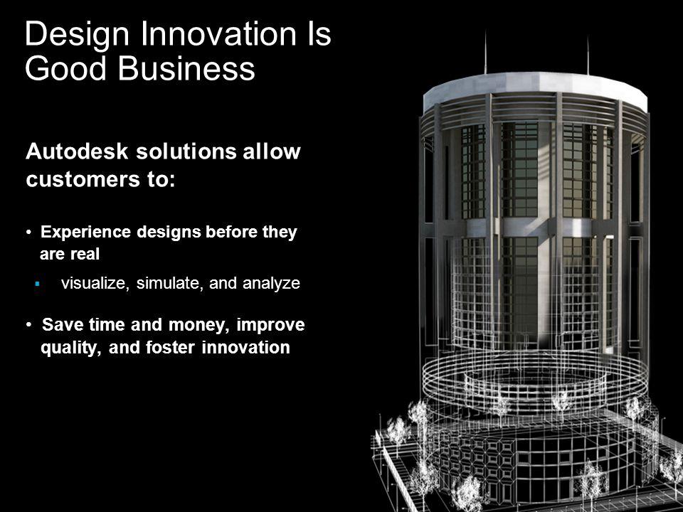 Autodesk © 2007 3D Installed Base Over 1M users Civil 3D Revit Inventor 0 250 500 750 1,000 1/31/041/31/05 1/31/06 1/31/07 (Units 000)