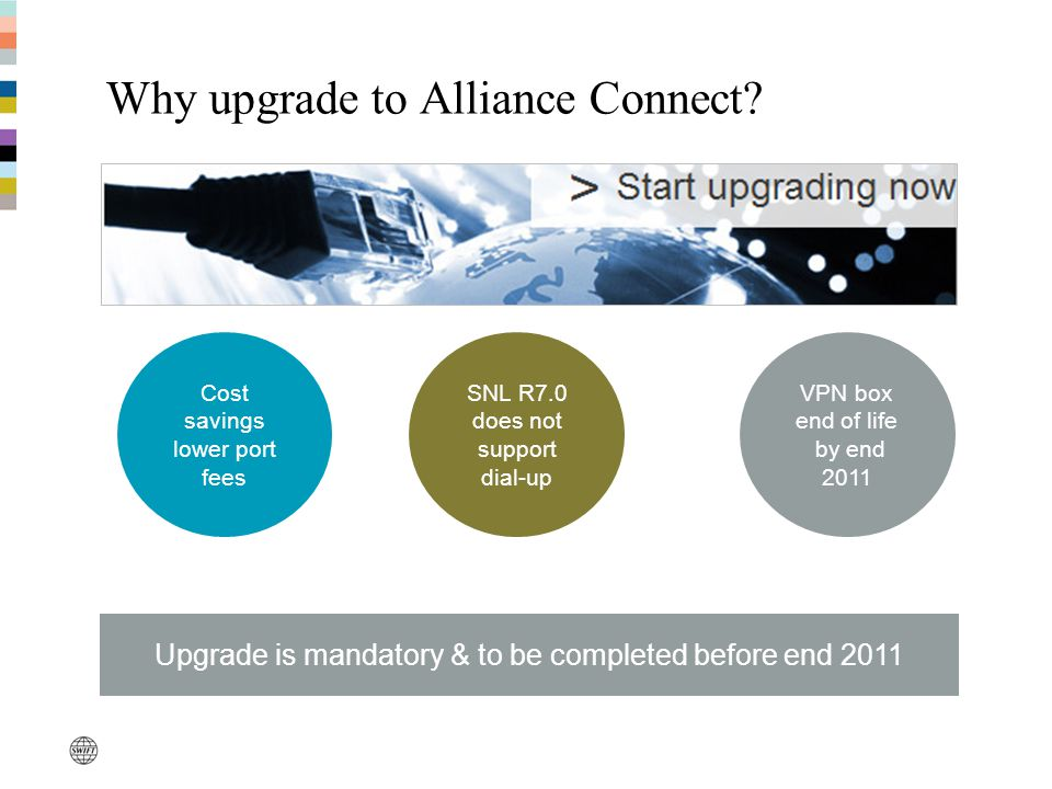 Alliance Connect – Installation Methods Do-It-Yourself Installation Quick installation guides For all 3 Alliance Connect products Easy and fast set-up Installation by Third-Party Network Partner Certified Service Partner or