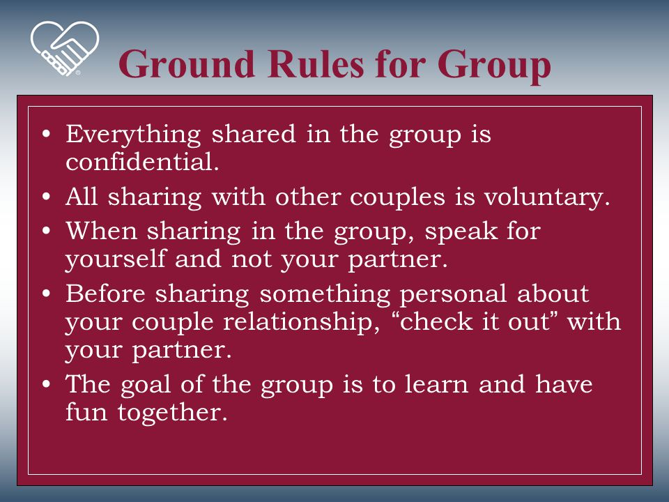 Couple Exercise Mapping Your Relationship –Review your Couple and Family Maps in the Couple's Report –Complete the exercise.