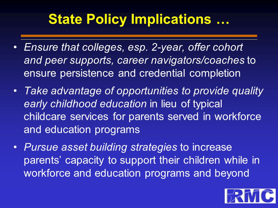State Policy Implications Per King et al.