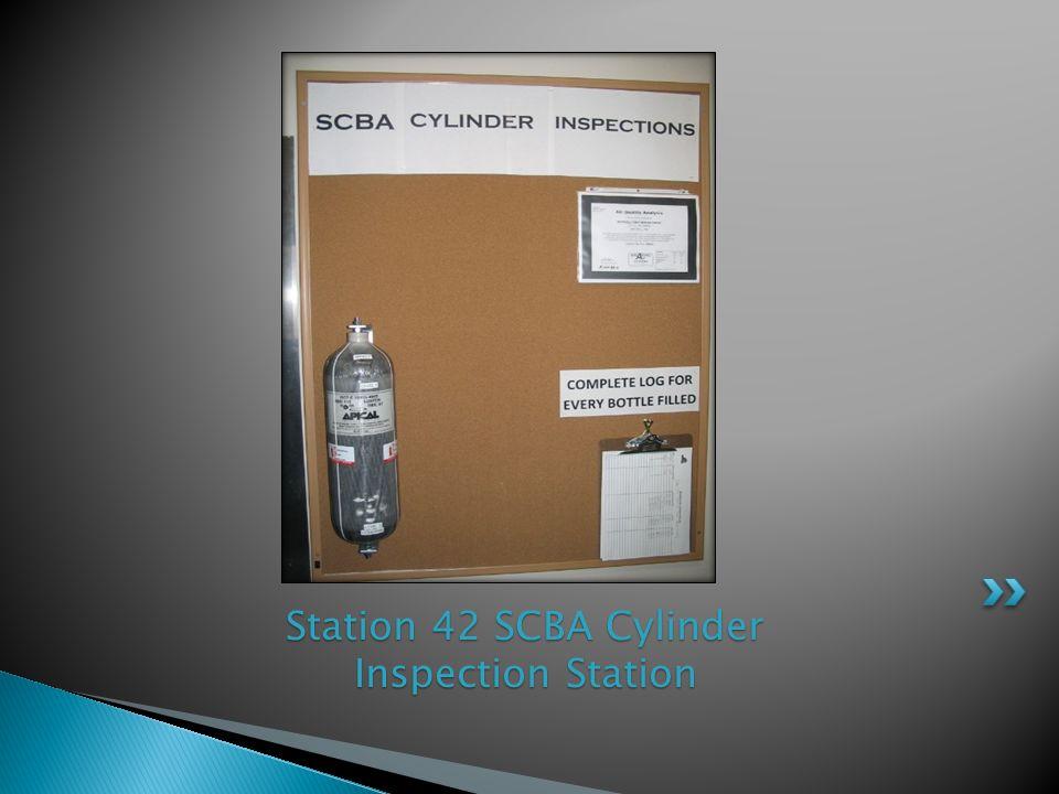 Station 42 SCBA Cylinder Inspection Station