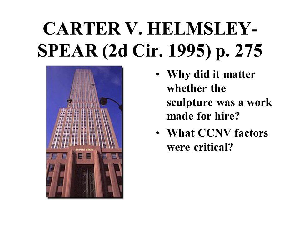 CARTER V. HELMSLEY- SPEAR (2d Cir. 1995) p.