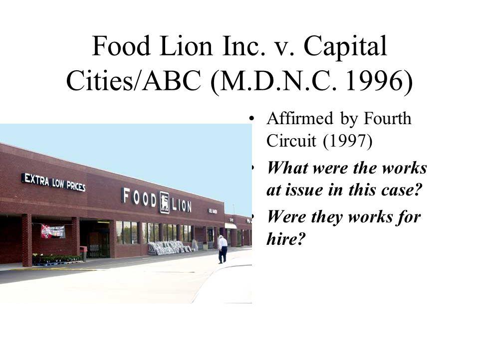 Food Lion Inc. v. Capital Cities/ABC (M.D.N.C.
