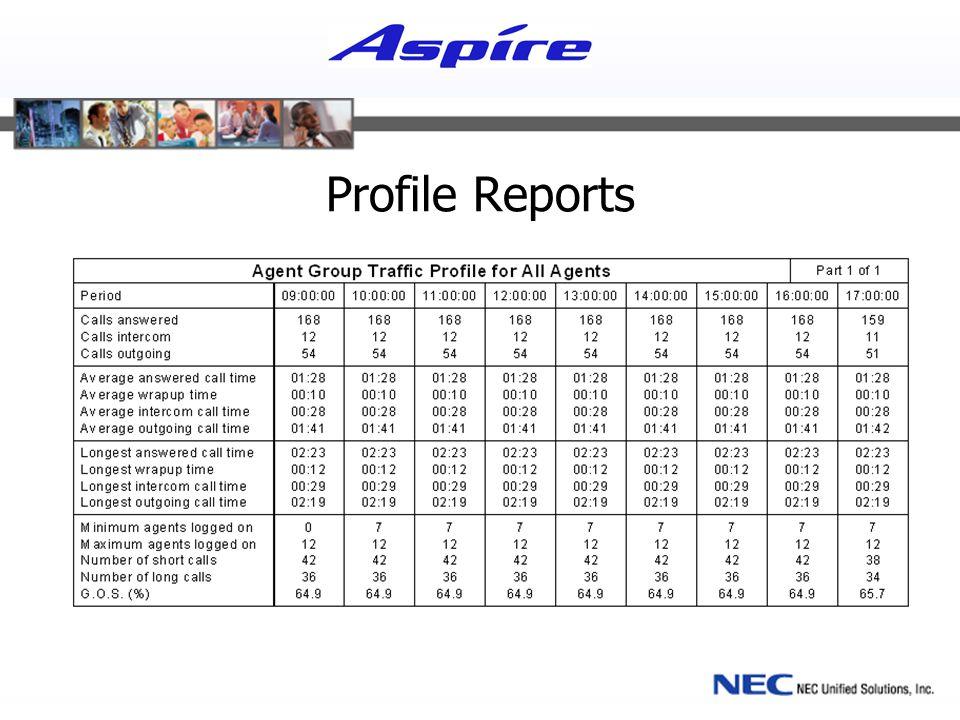 Profile Reports