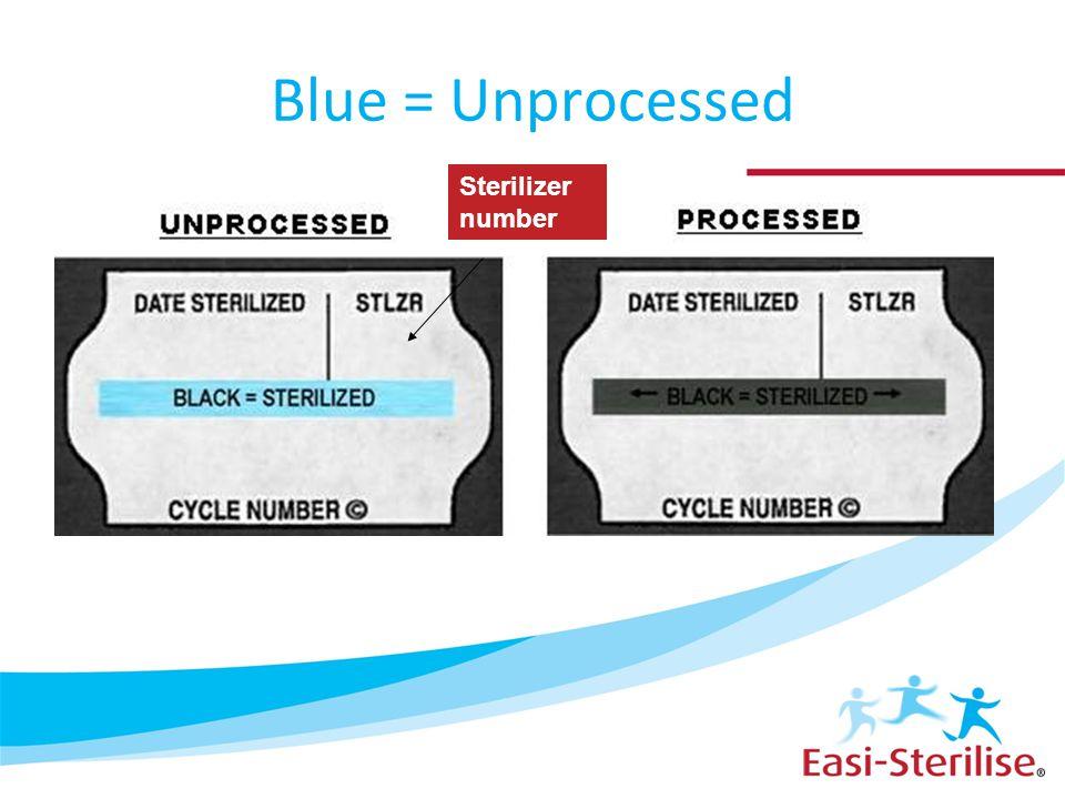 Blue = Unprocessed Sterilizer number
