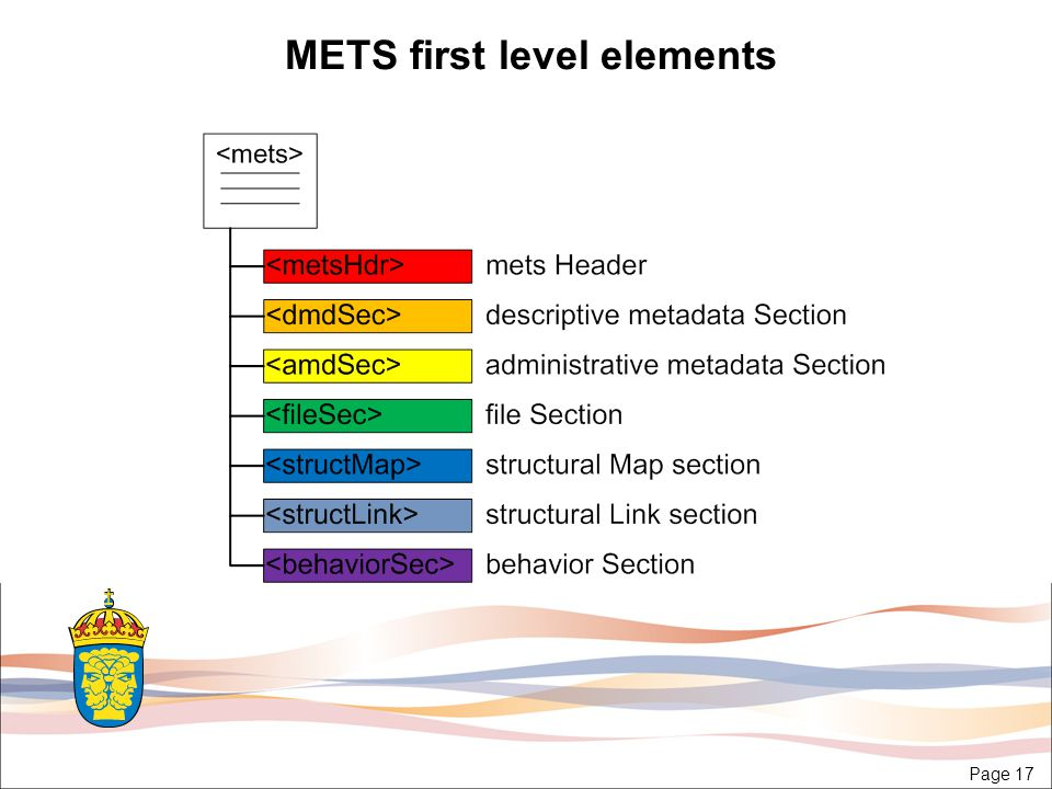 Page 17 METS first level elements