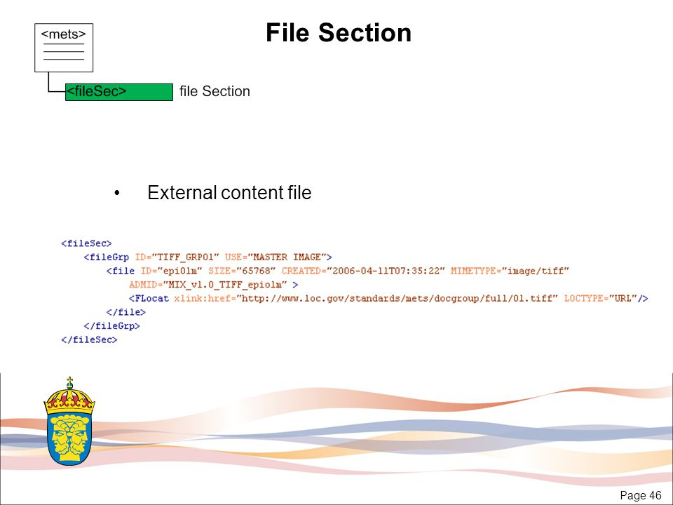 Page 46 File Section External content file