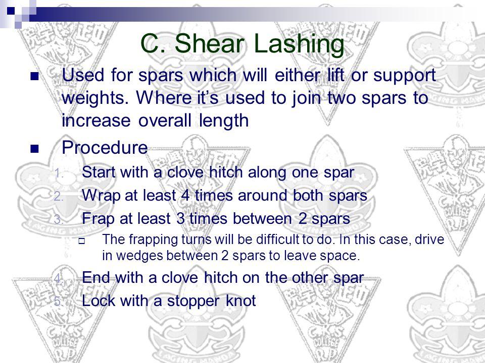Shear Lashing Picture