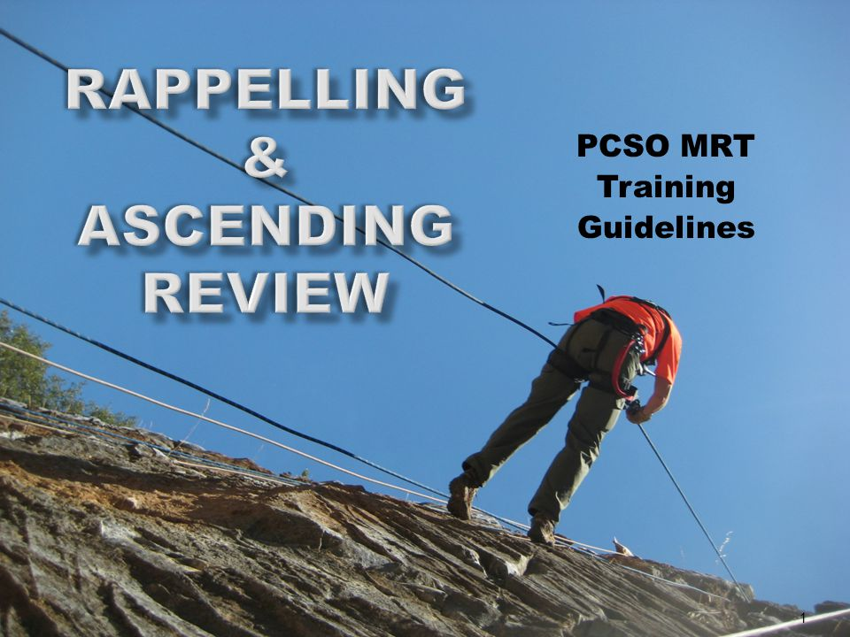 PCSO MRT Training Guidelines 1