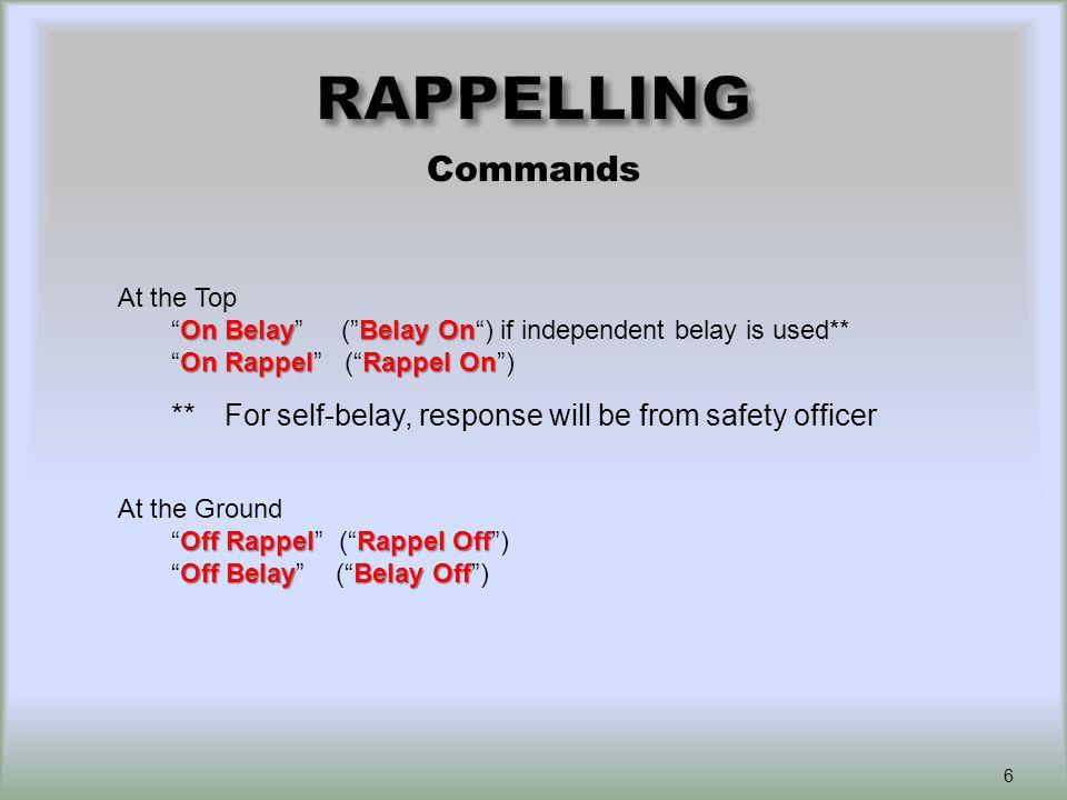 Safety Backups and Safety Checks 17 Self-belayActive Independent belay