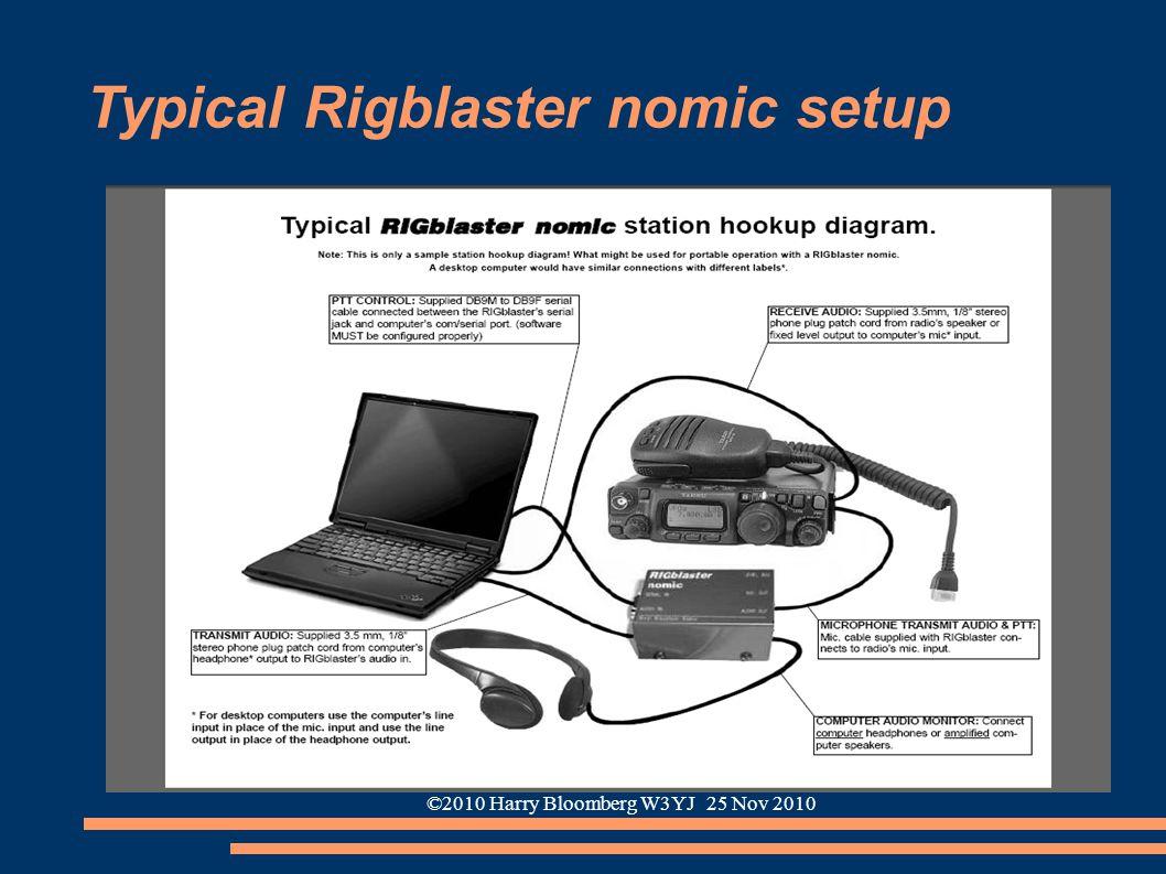 ©2010 Harry Bloomberg W3YJ 25 Nov 2010 Typical Rigblaster nomic setup