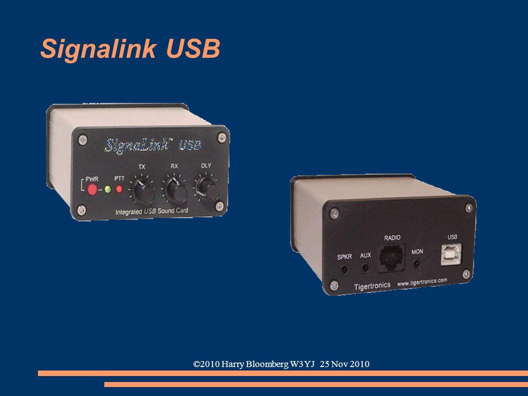 ©2010 Harry Bloomberg W3YJ 25 Nov 2010 Signalink USB