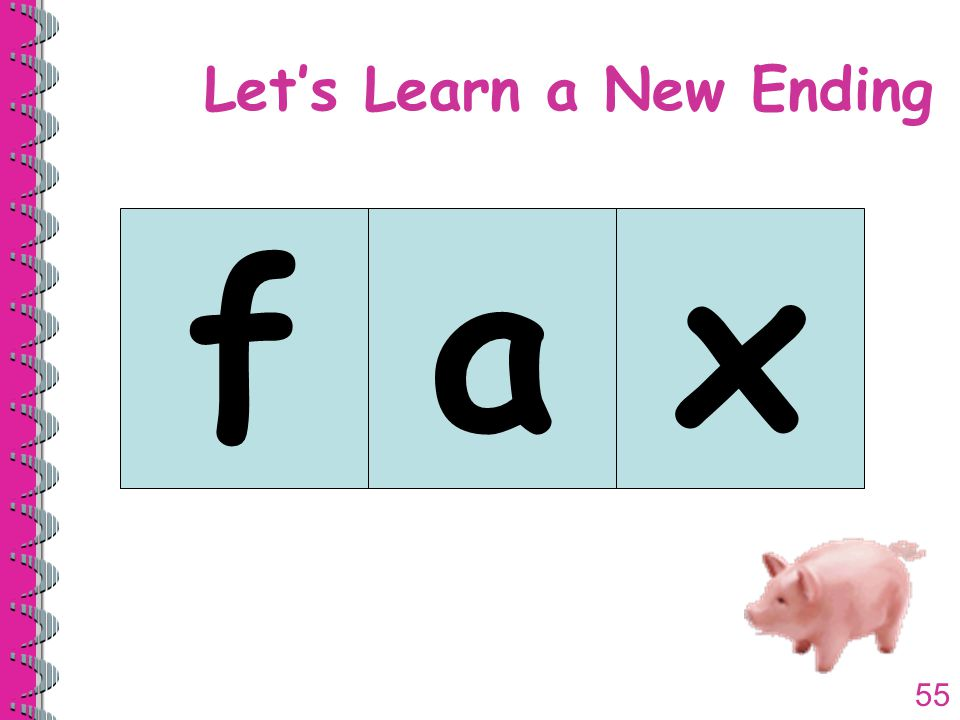 55 Let's Learn a New Ending fax