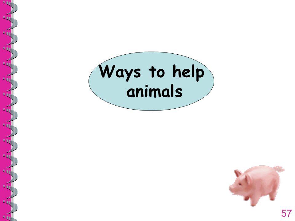 57 Ways to help animals