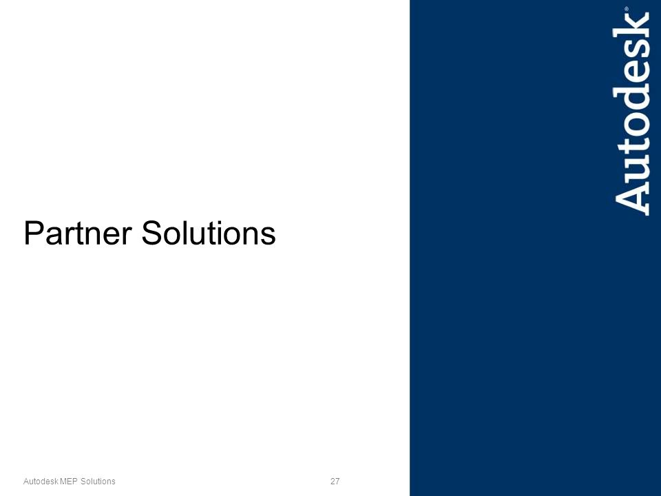 27 Autodesk MEP Solutions Partner Solutions
