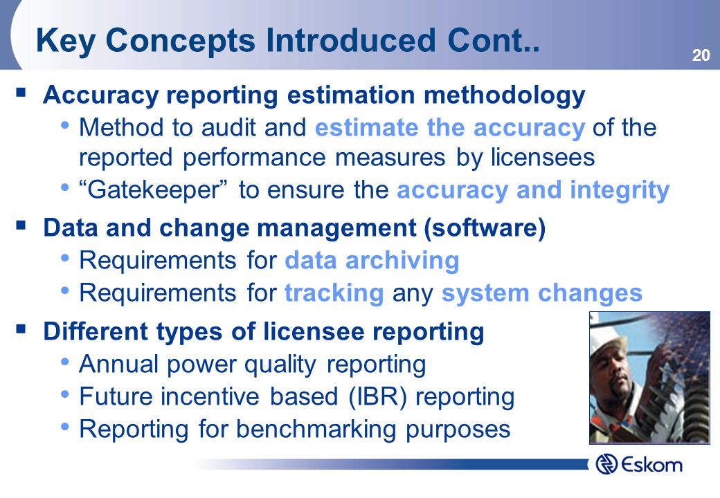 20 Key Concepts Introduced Cont..