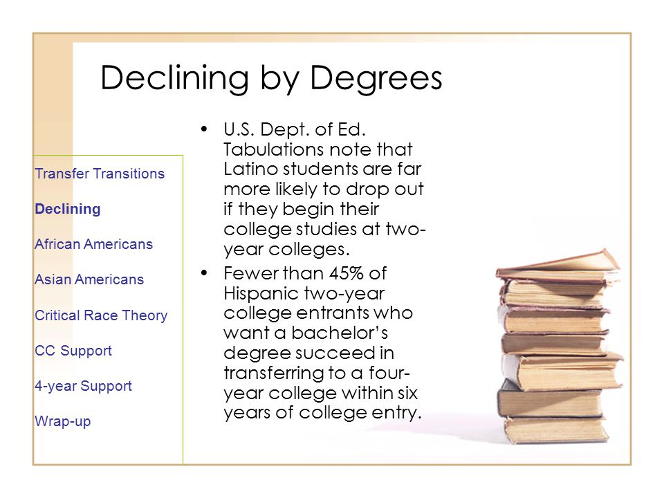 Declining by Degrees U.S. Dept. of Ed.
