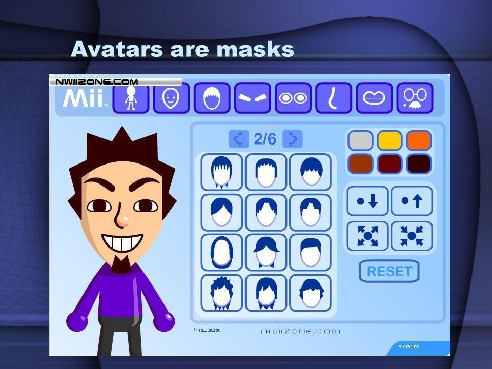 Avatars are masks