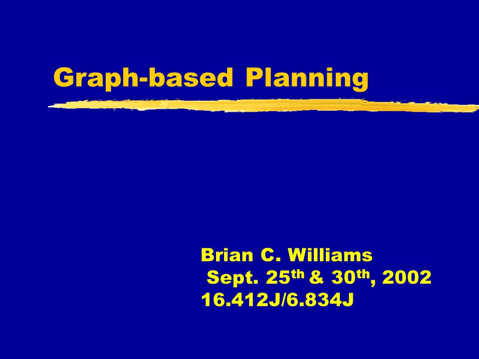 Outline  Introduction  The Graph Plan Planning Problem  Graph Construction  Solution Extraction  Properties  Termination with Failure