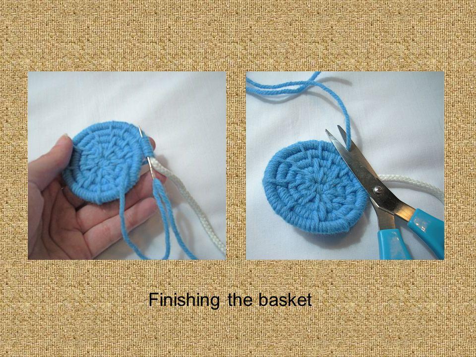 Finishing the basket