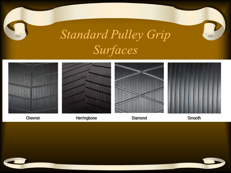 Standard Pulley Grip Surfaces