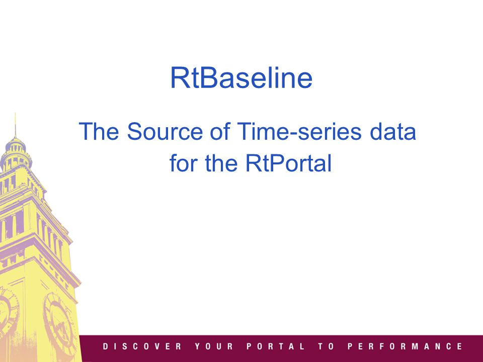RtBaseline The Source of Time-series data for the RtPortal