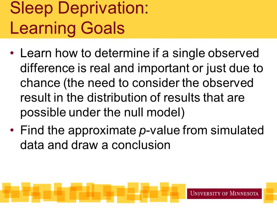Learn how to determine if a single observed difference is real and important or just due to chance (the need to consider the observed result in the di