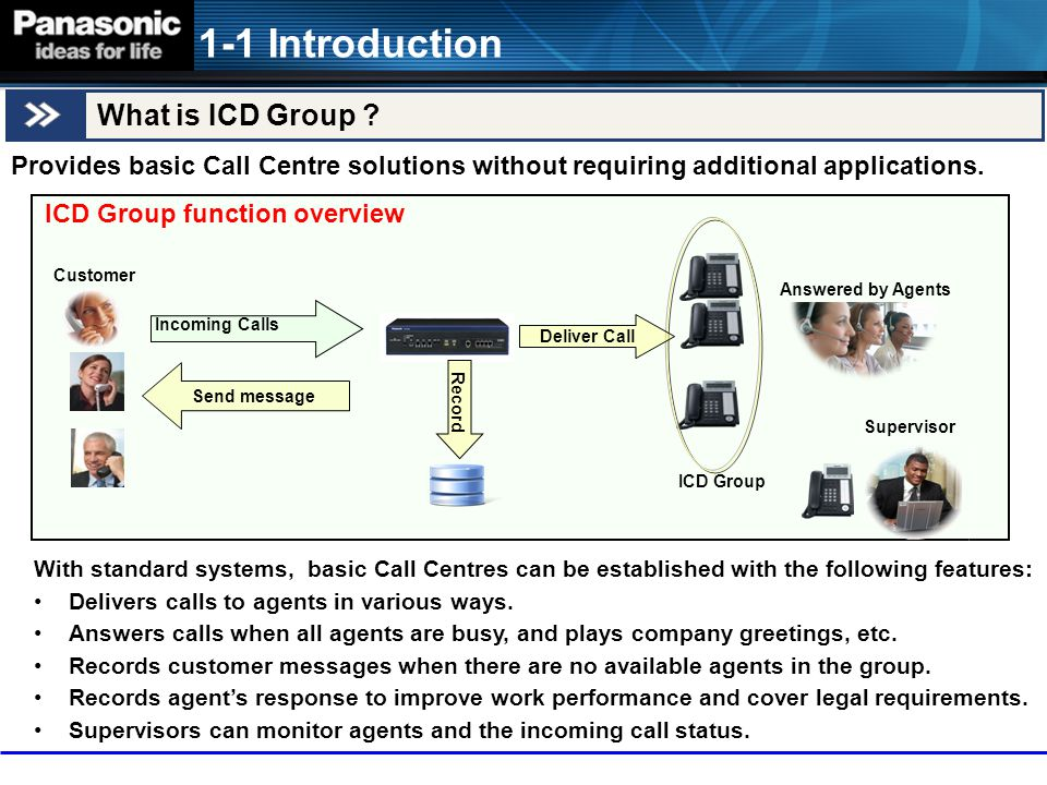 The following diagram shows the general call flow of ICD-G call handling.