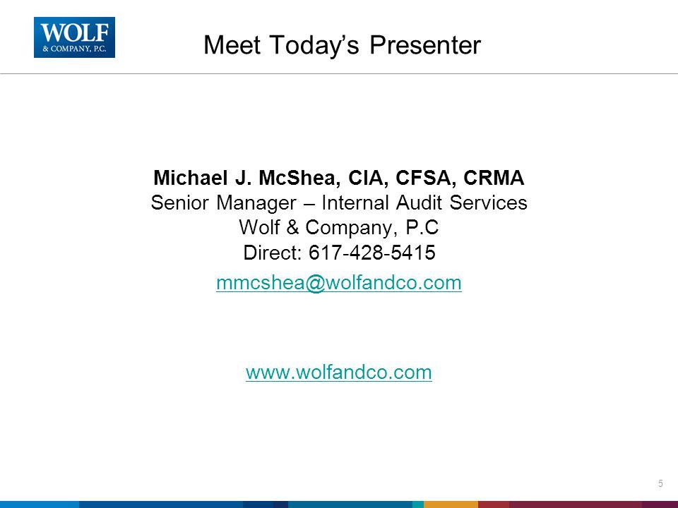 Meet Today's Presenter Michael J.