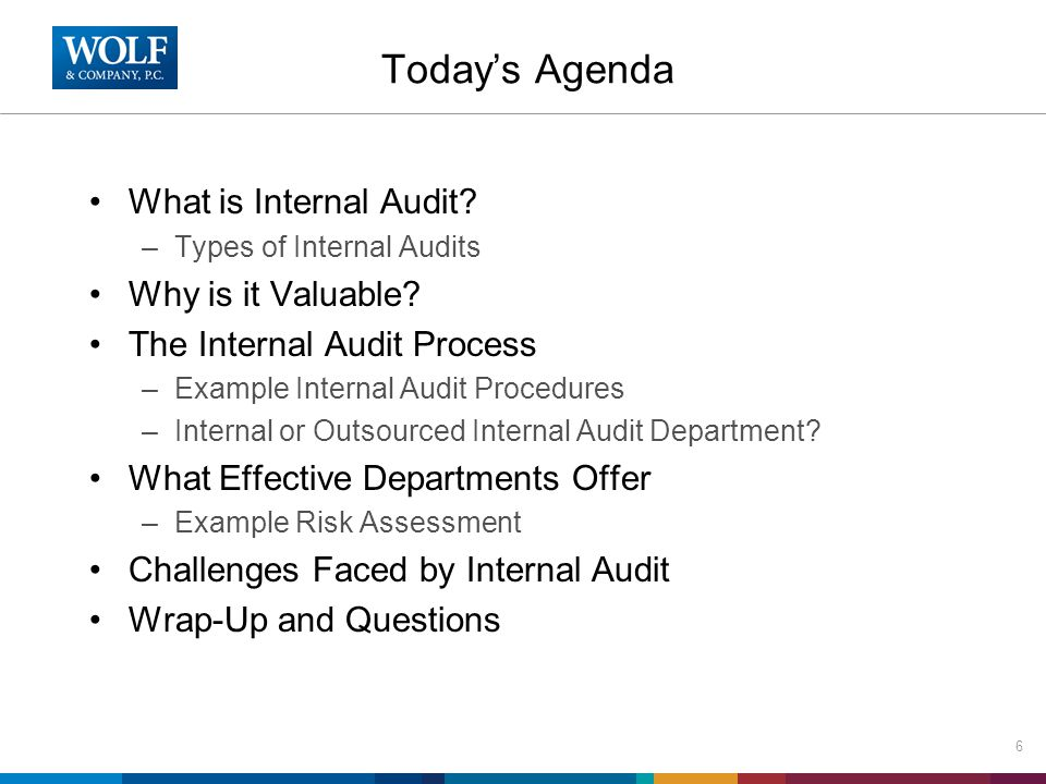 Internal or Outsourced Internal Audit Some challenges in building an internally staffed auditing function: –An auditor will seldom have expertise across all of the risk areas that a college or university are likely to have –An auditor with financial expertise is not likely to possess anything beyond a cursory understanding of IT risks –A one or two-person in-house internal audit shop may have difficulty keeping pace with new regulatory, legal and technological developments 17