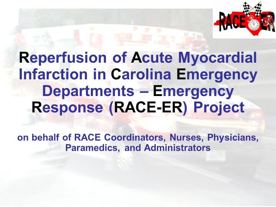 Reperfusion of Acute Myocardial Infarction in Carolina Emergency Departments – Emergency Response (RACE-ER) Project on behalf of RACE Coordinators, Nu