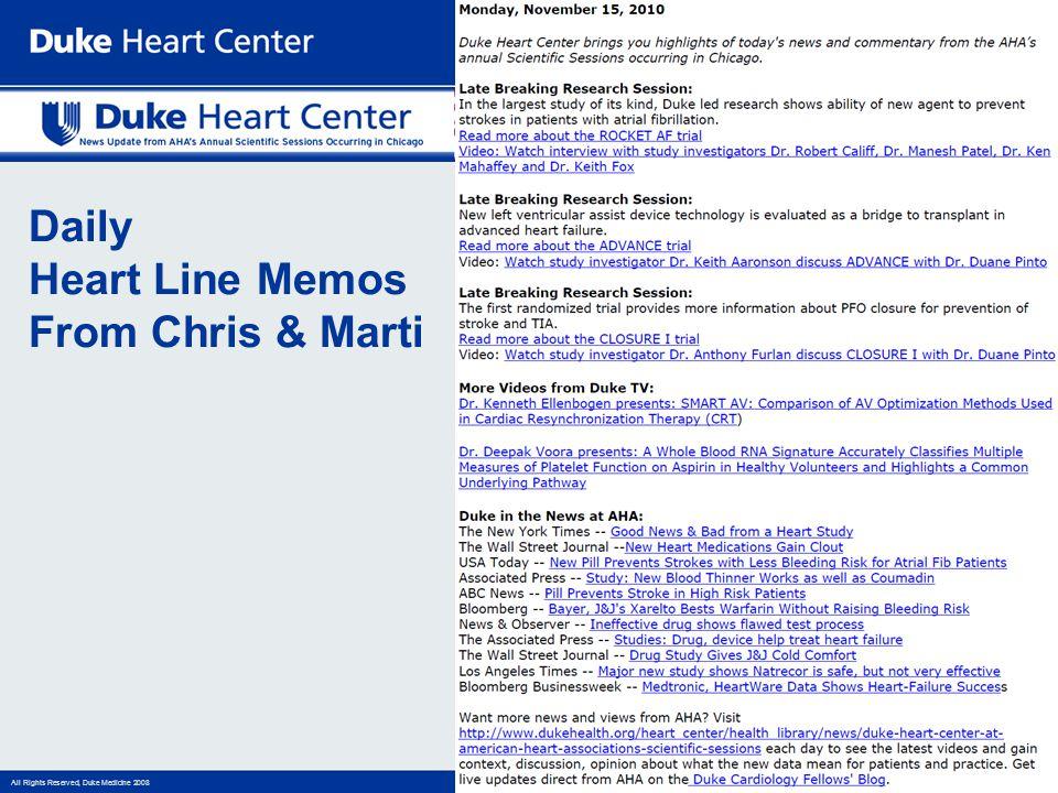 Daily Heart Line Memos From Chris & Marti