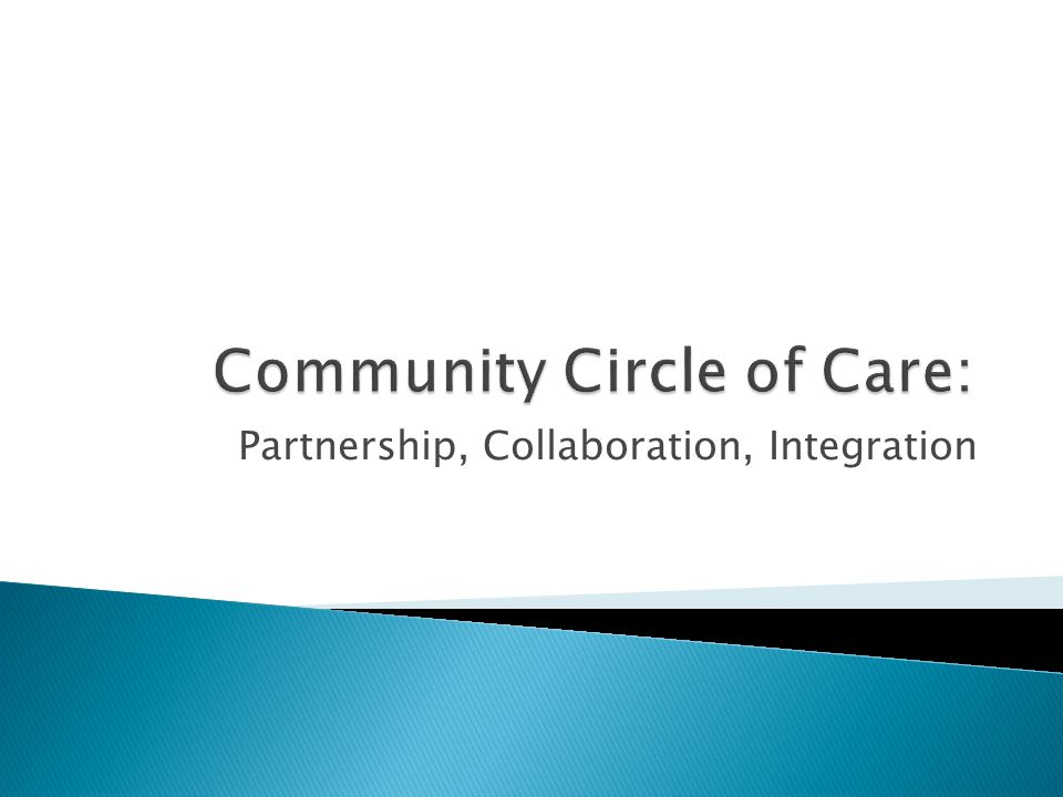 Community Circle of Care: Partnership, Collaboration, Integration
