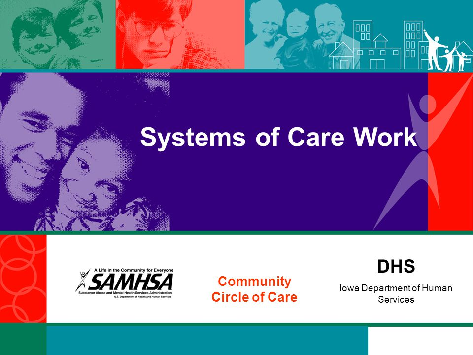 DHS Iowa Department of Human Services Community Circle of Care Systems of Care Work