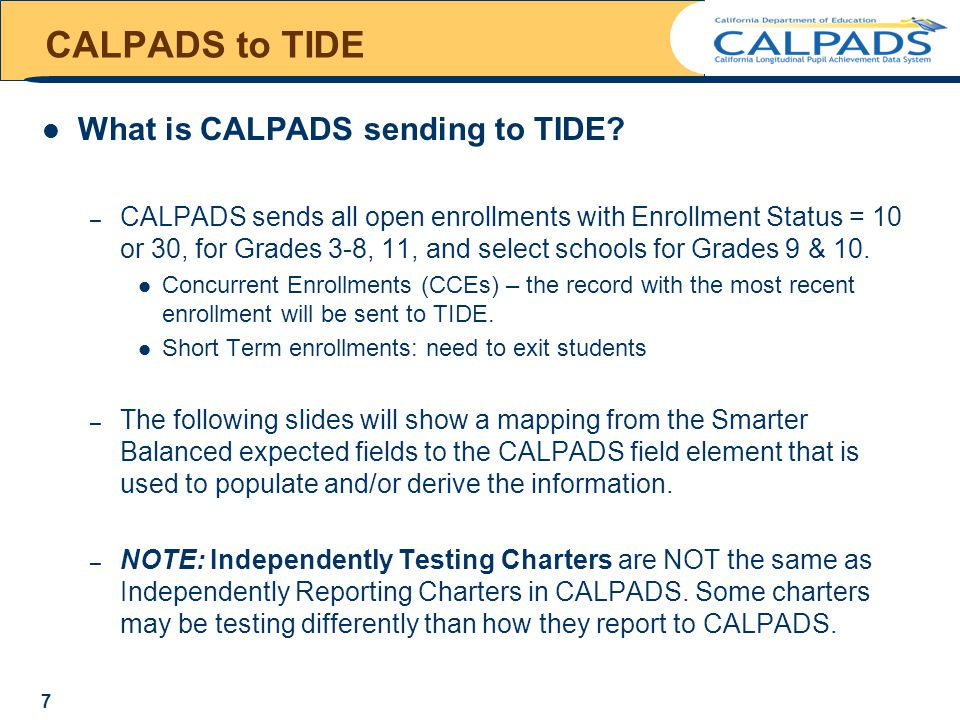 Questions & Answers Common Issues – NPS School Missing – Charter testing status – Enrollment Status – Everything in CALPADS is Correct! – Deleting records – Update Timing 18