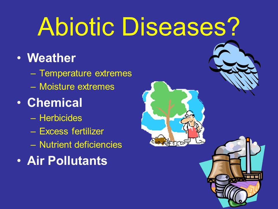 Abiotic Diseases.