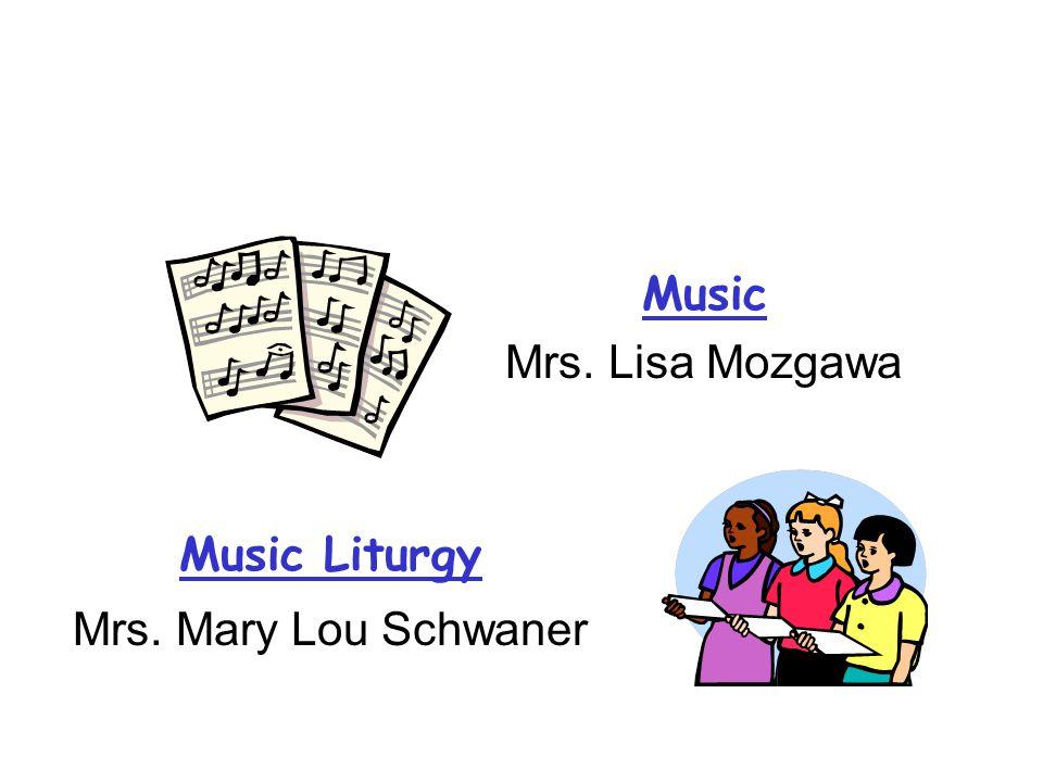 Art Mrs. Joni McClusky Computer Mrs. Allisan Mintz IT—Mrs. Karen Moraes