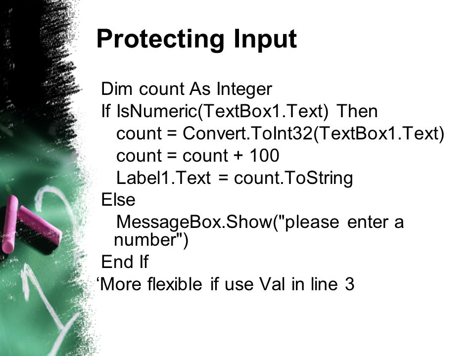 Displaying counters in a textbox A textbox by default is a single-lined component.