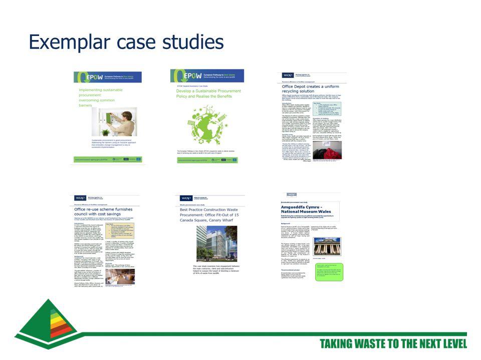 Exemplar case studies