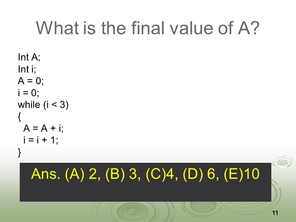 What is the final value of A.